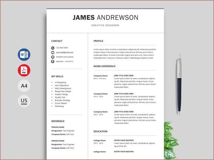 Free Resume Templates Word 2016