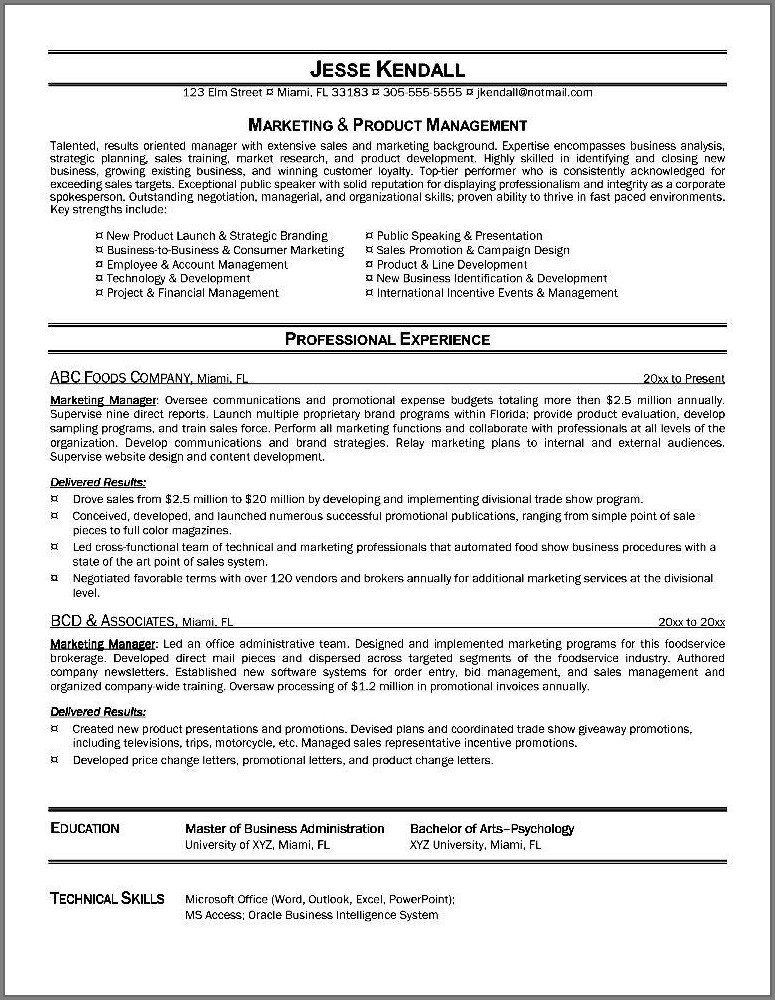 Free Sales Executive Resume Templates