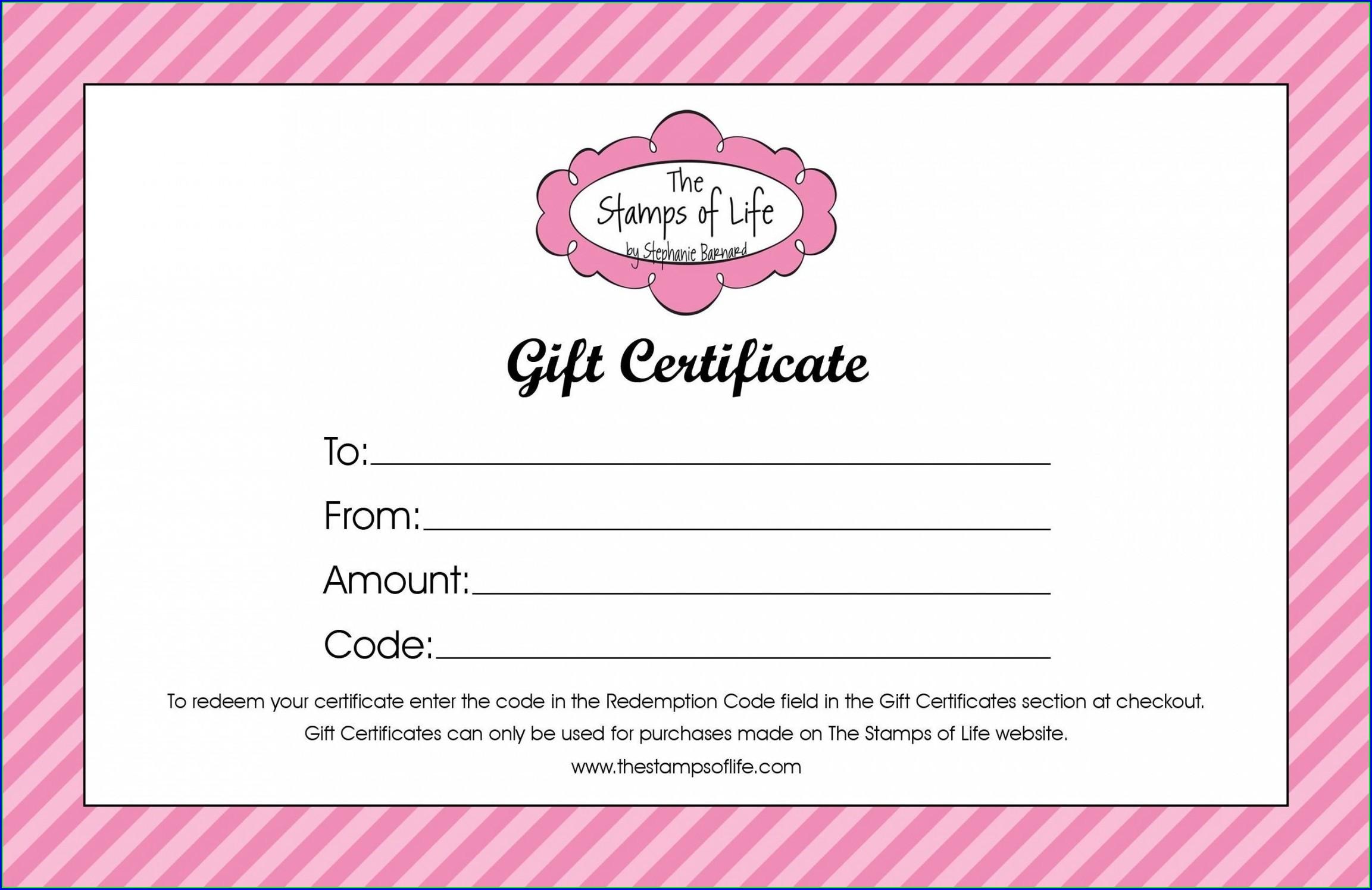 Hair Salon Gift Certificate Template Free Printable