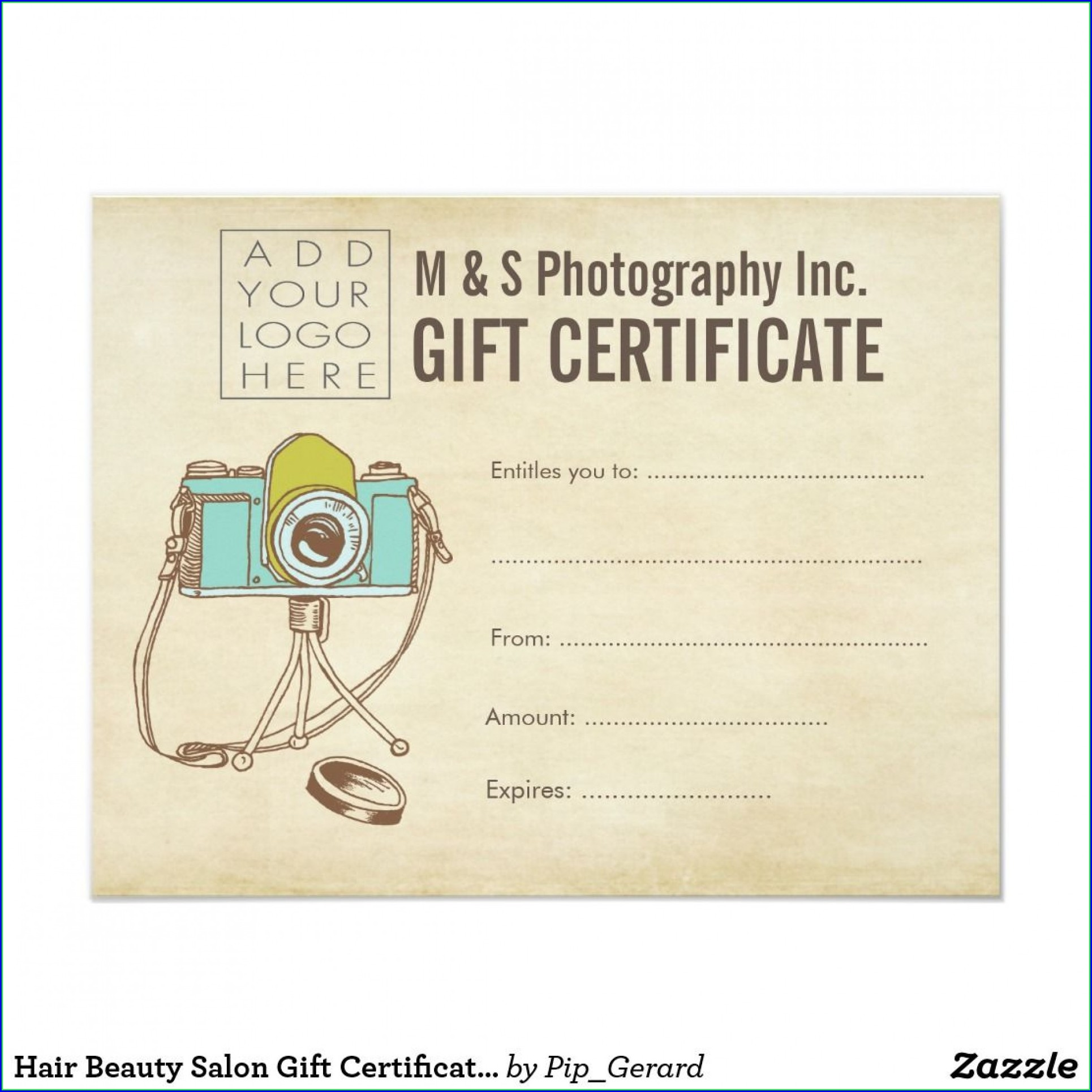 Hair Salon Gift Certificate Template Word