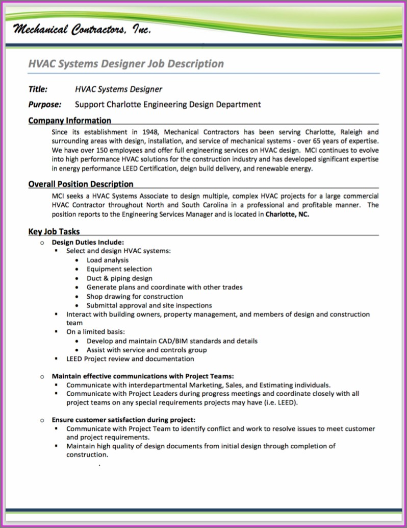 Hvac Service Technician Resume Templates