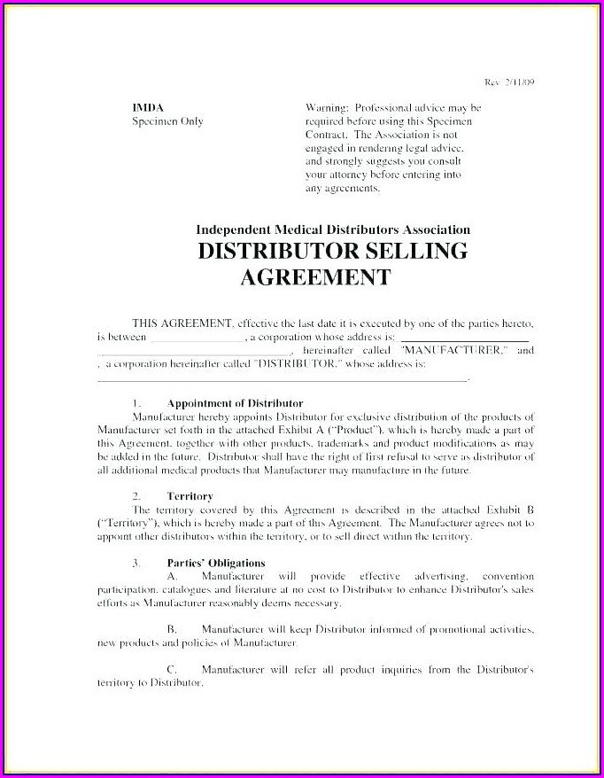 International Distribution Agreement Template Free