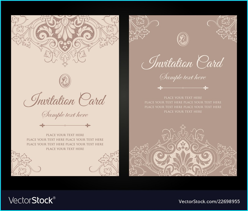 Invitation Card Free Template