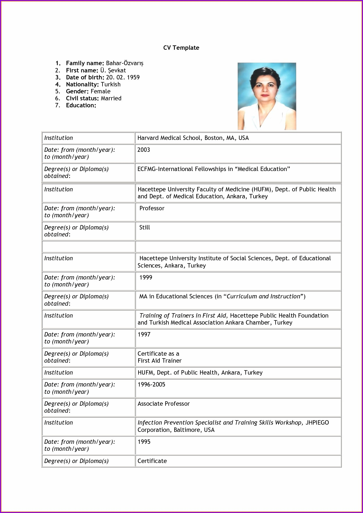 Job Simple Resume Format Pdf