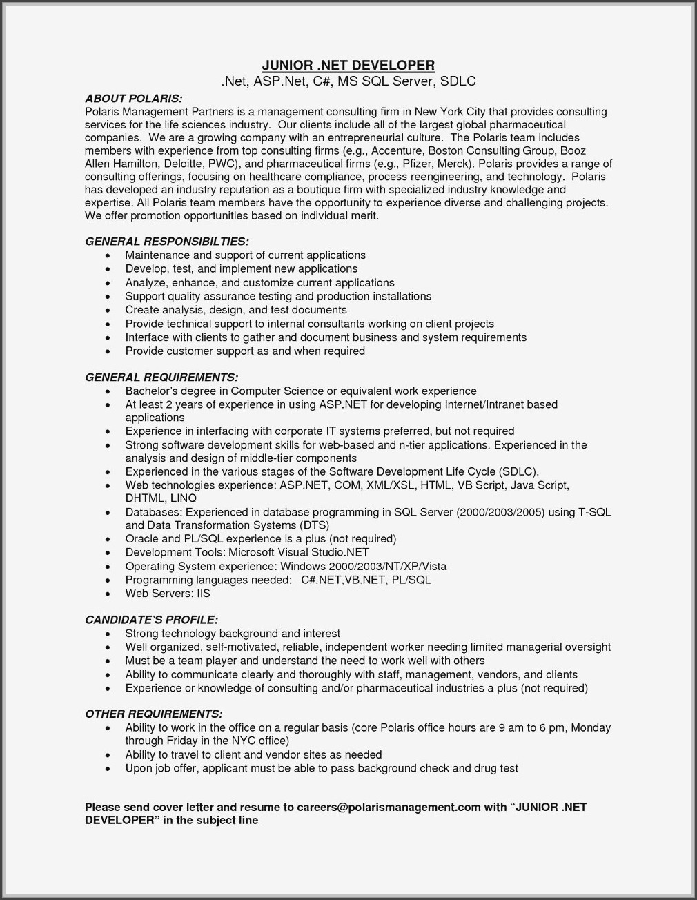 Junior Ruby On Rails Developer Resume