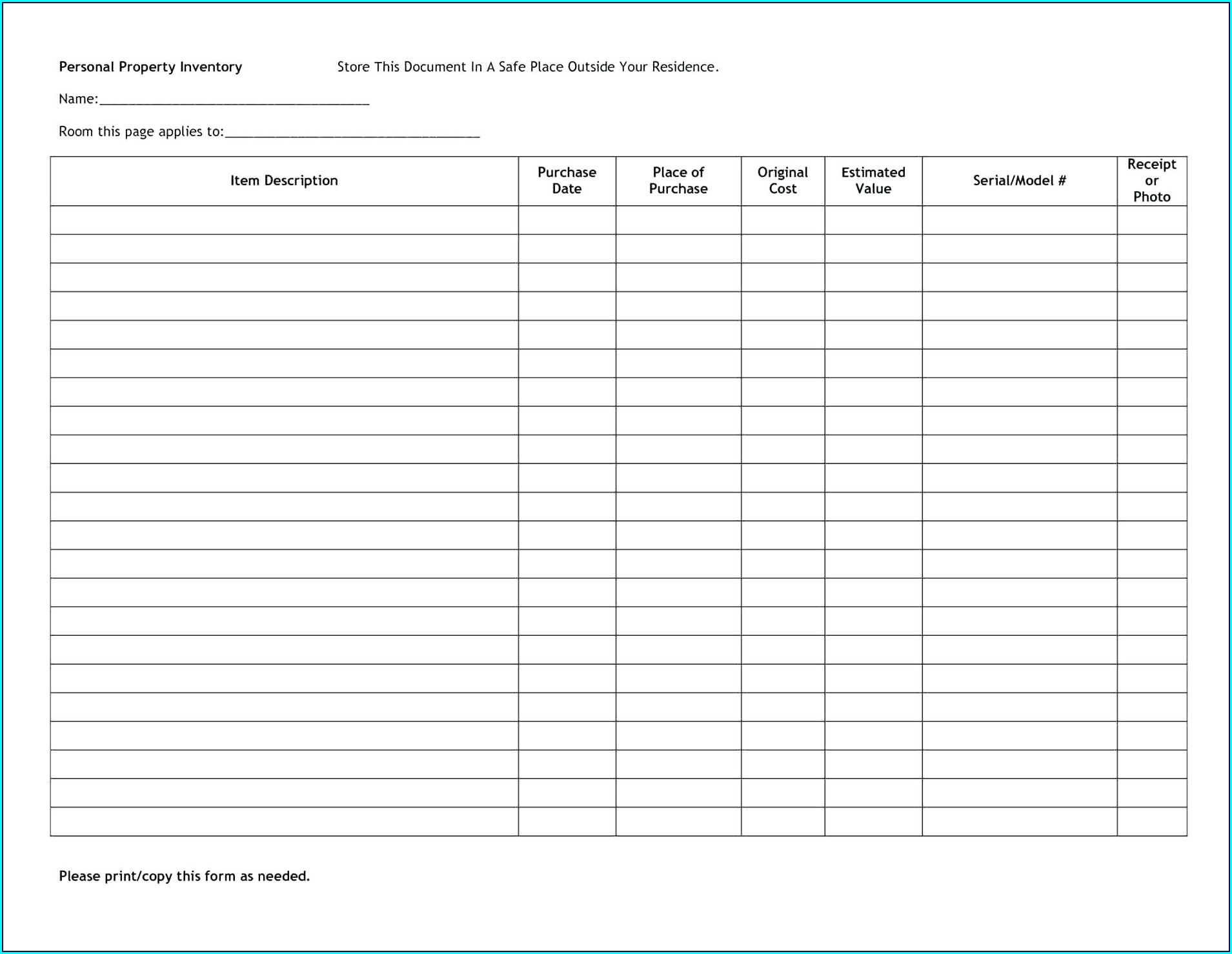 Liquor Inventory Spreadsheet Template