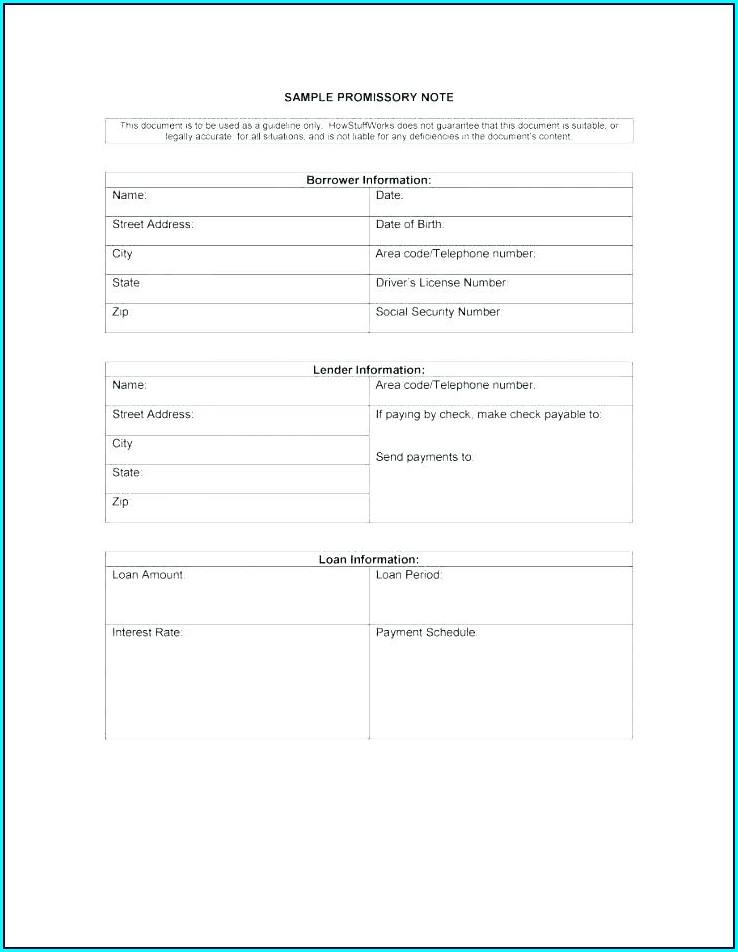Loan Promissory Note Template Word