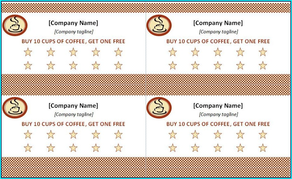 Loyalty Punch Card Template Free