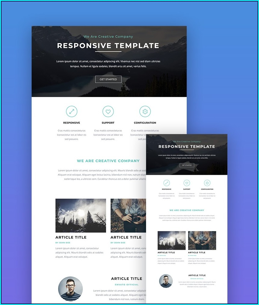 Mailchimp Responsive Email Templates
