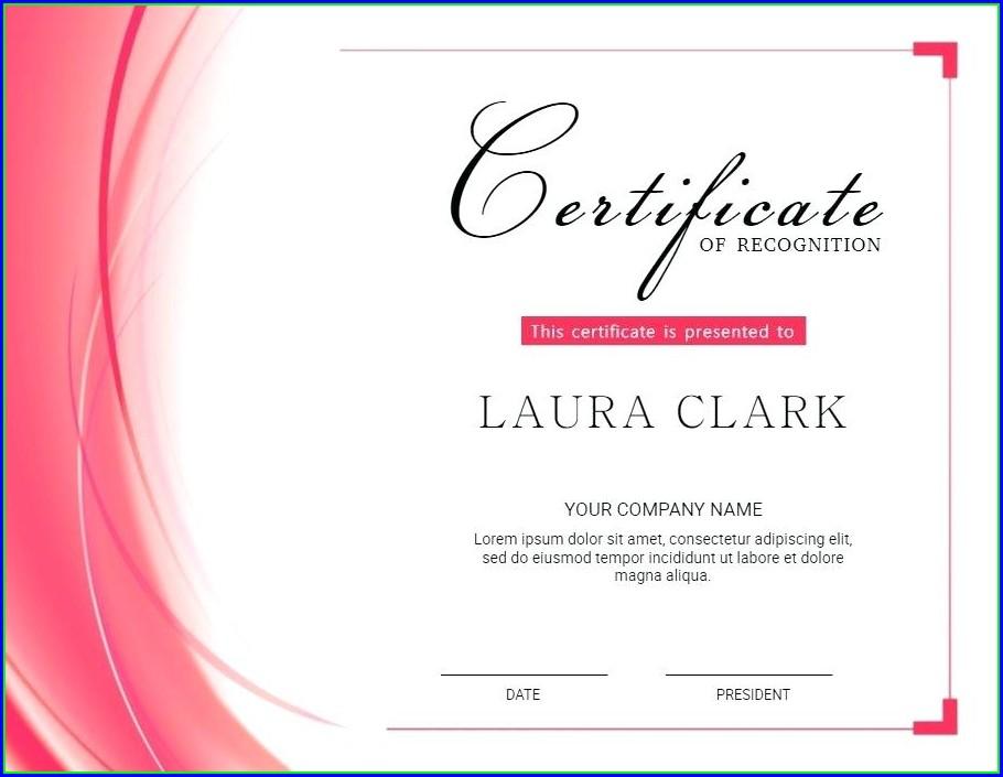 Makeup Artist Gift Certificate Template