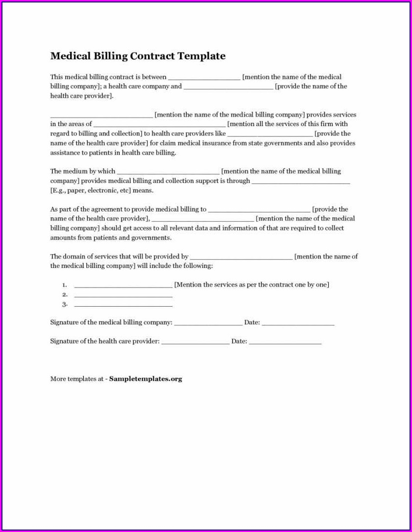Medical Billing Forms Templates