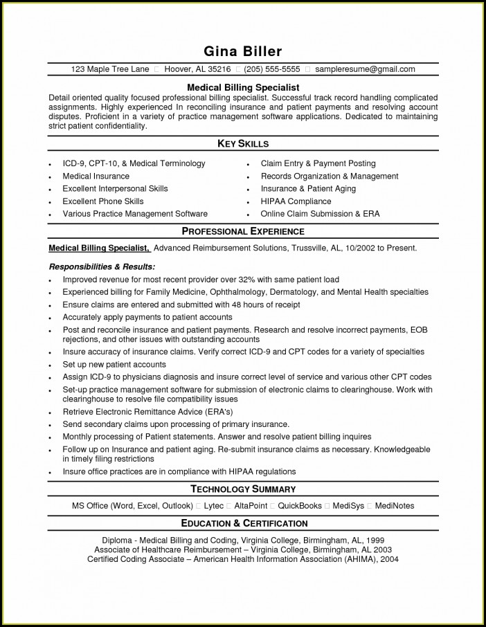 Medical Coding Resume Objective Examples