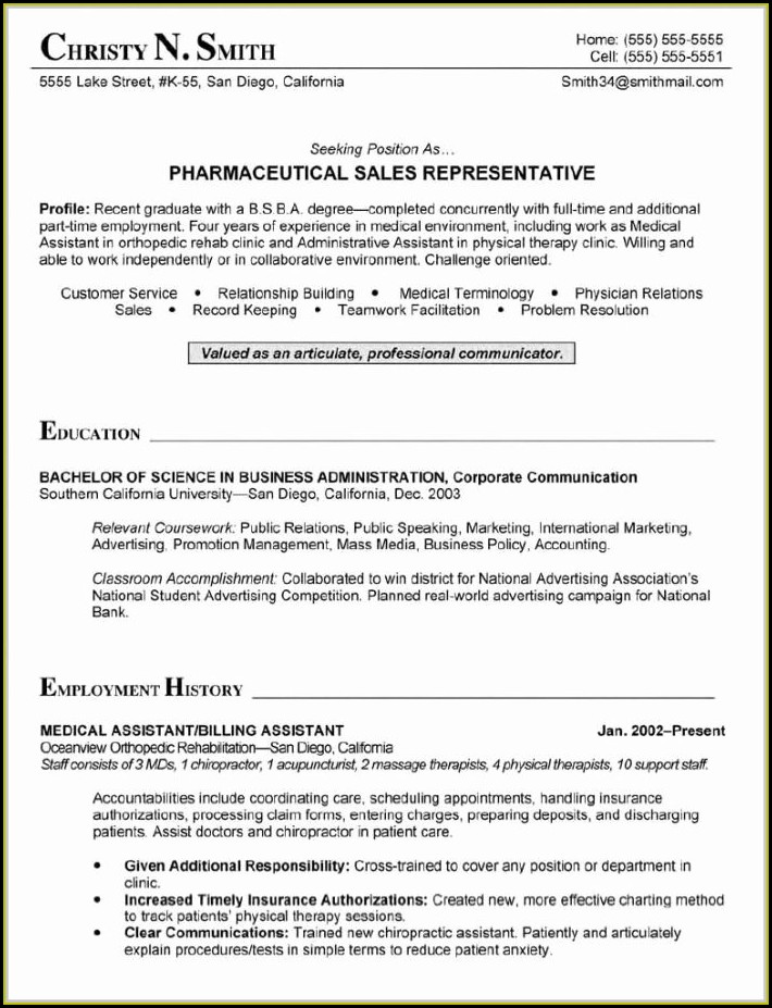 Medical Coding Resume Sample Entry Level