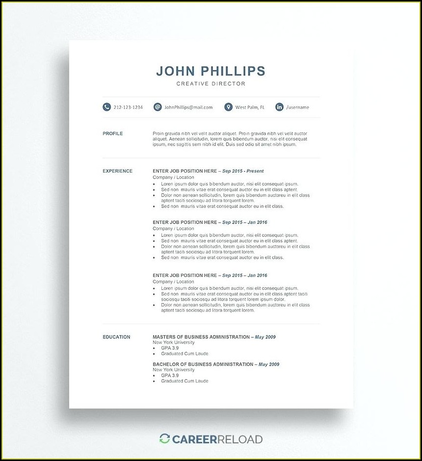 Microsoft Free Resume Templates Download