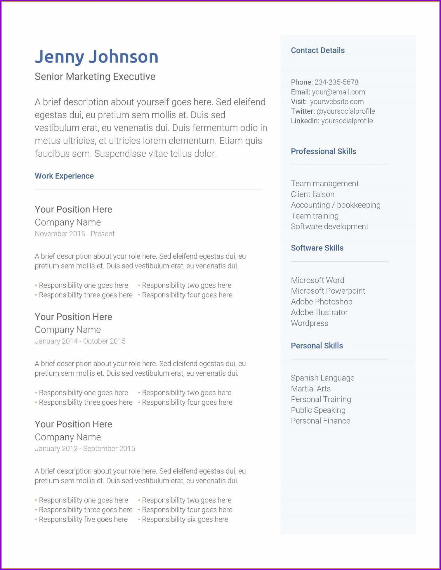 Microsoft Office 2013 Free Resume Templates
