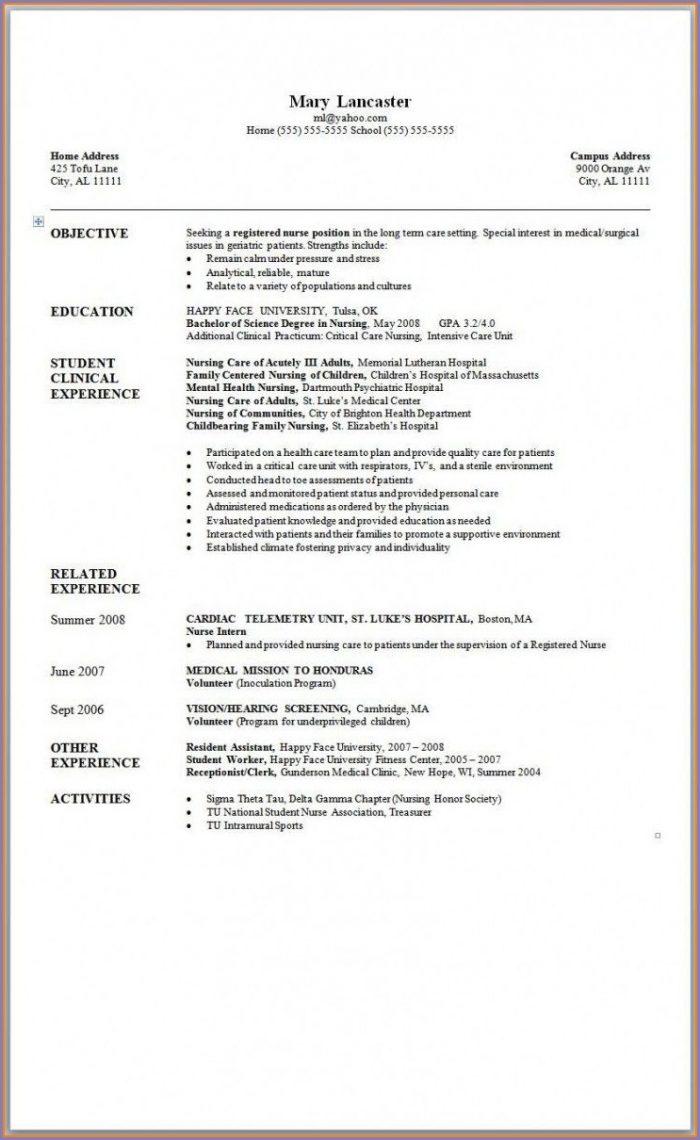 Microsoft Word 2007 Resume Templates Free Download