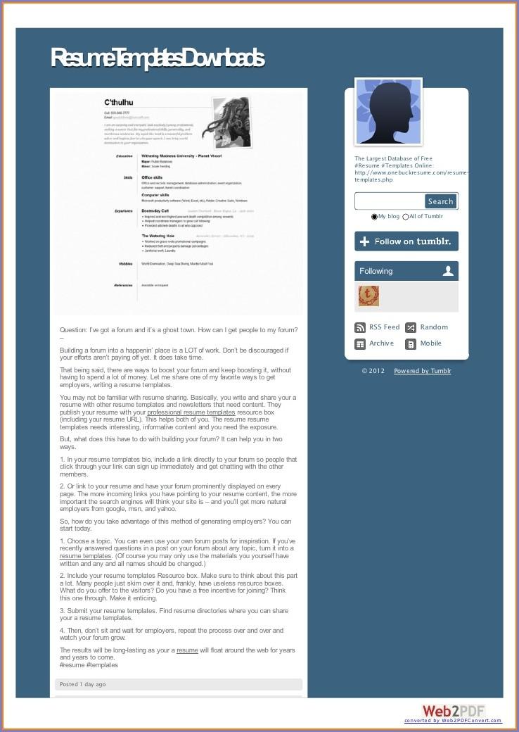 Microsoft Word Free Resume Templates 2007