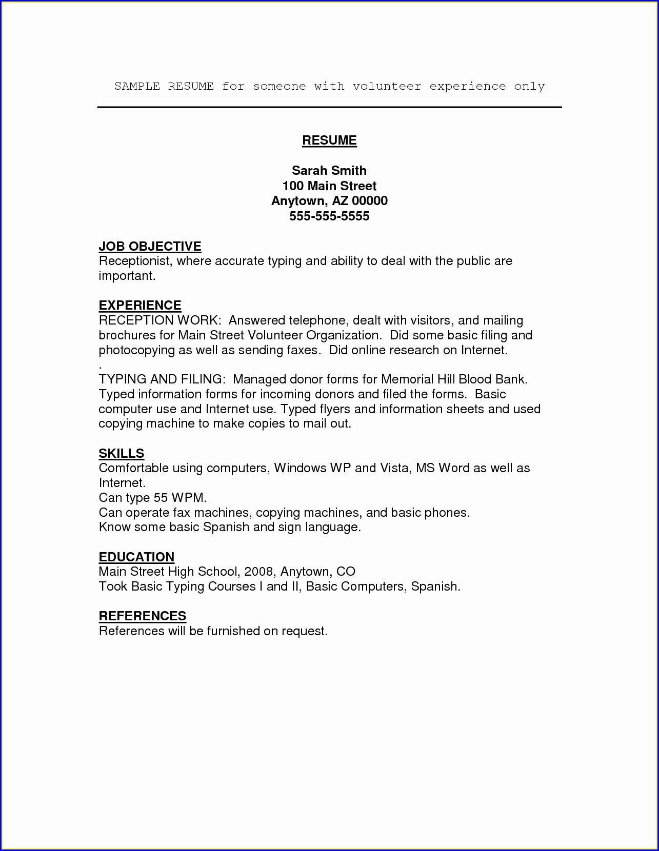 Military Resume Skills Examples