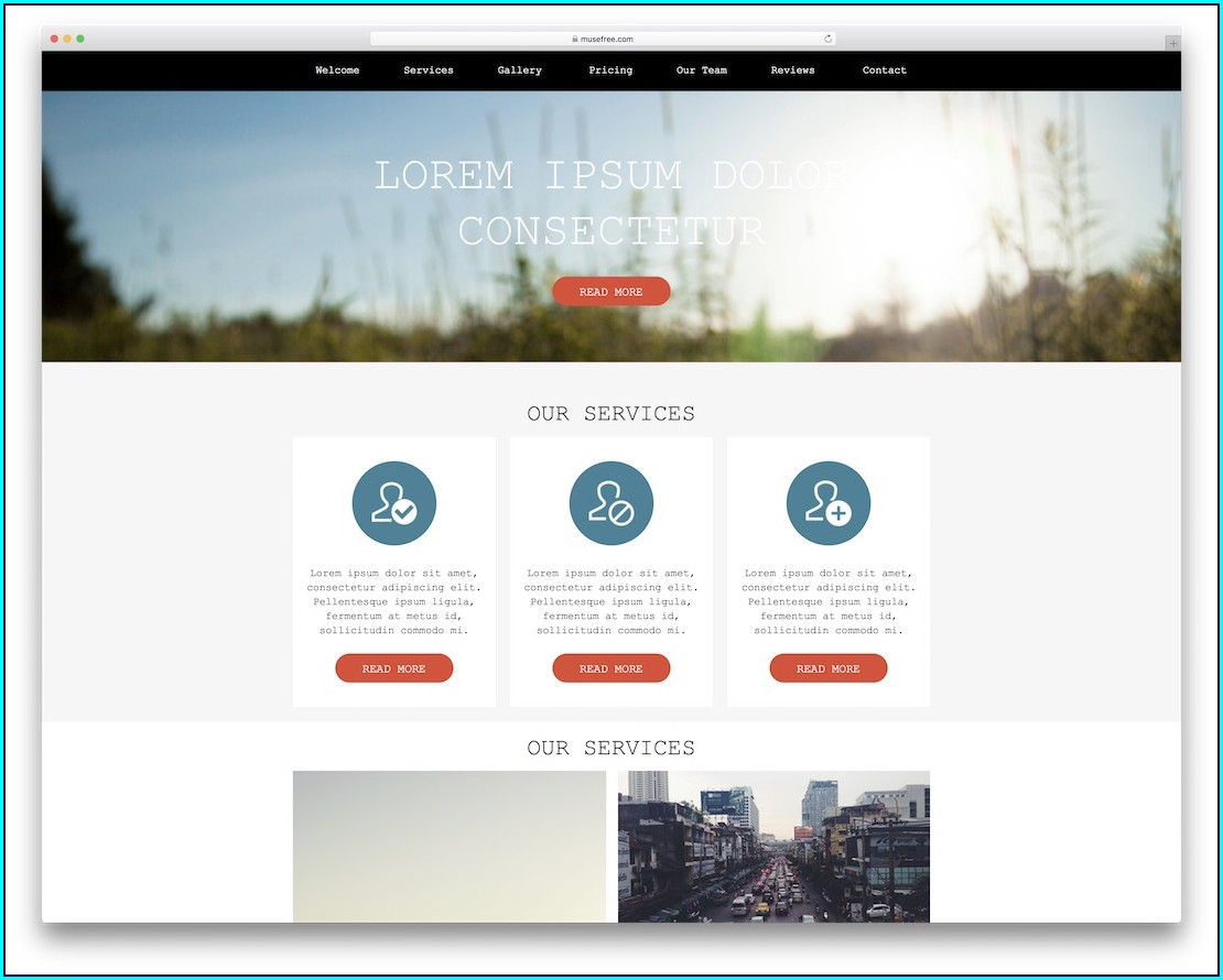 Muse Website Templates Free Download