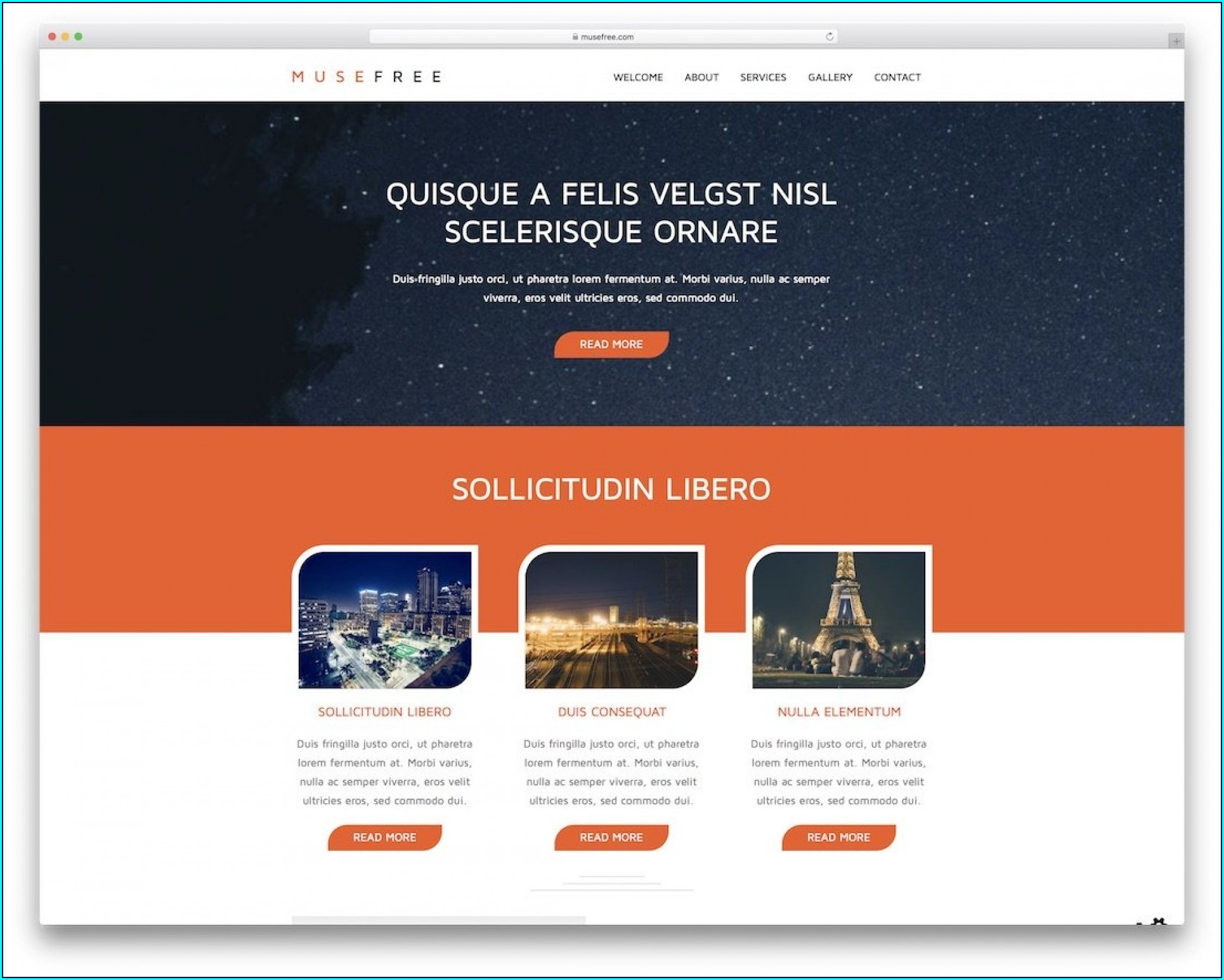 Muse Website Templates Free