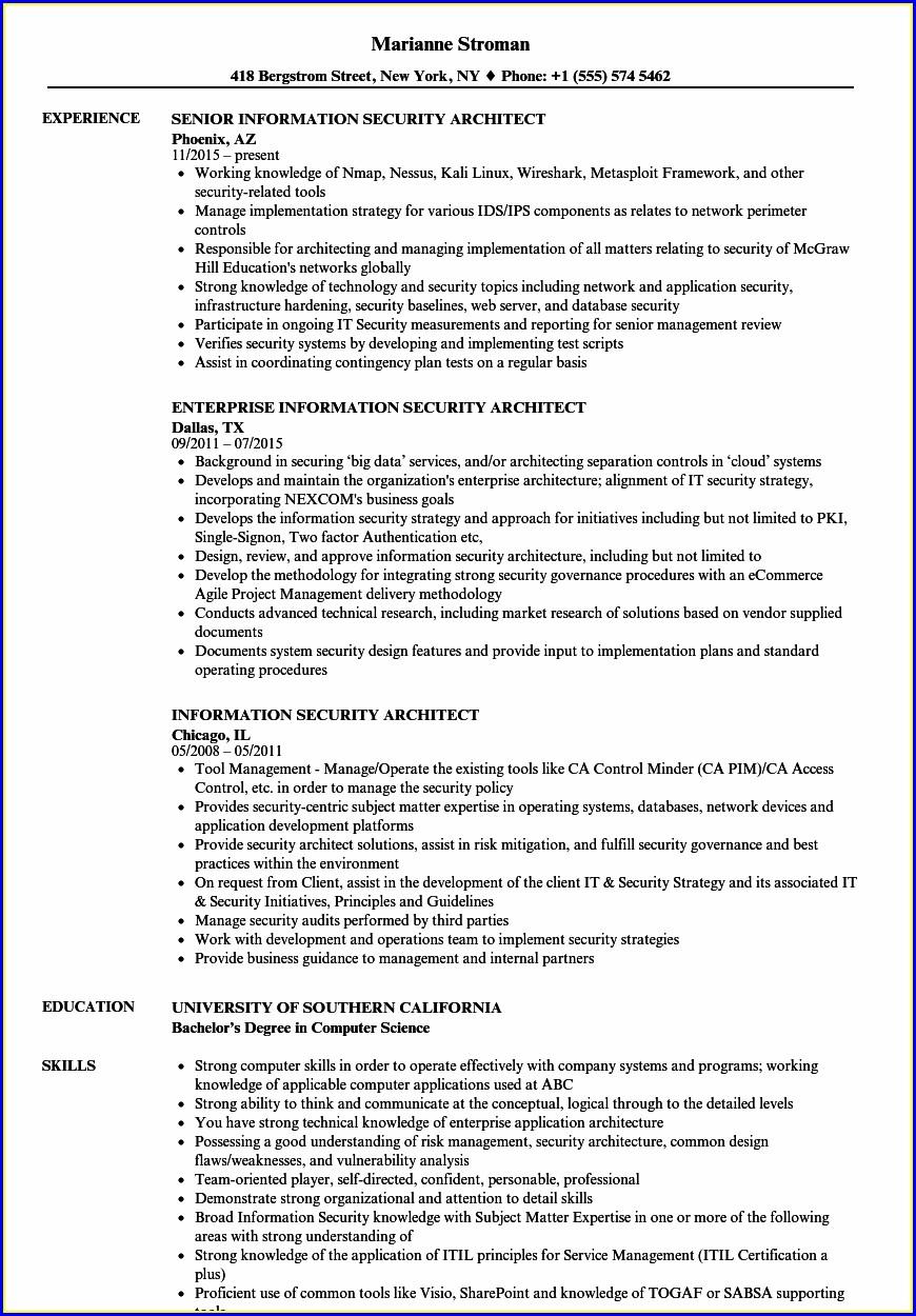 Network Security Engineer Resume Sample