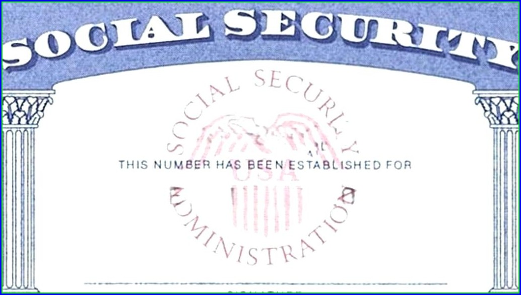 Novelty Social Security Card Template Download Free
