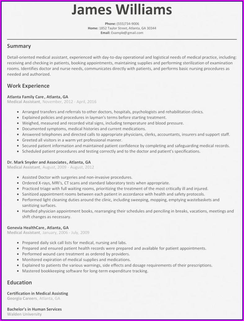 Nursing Graduate Resume Template Free