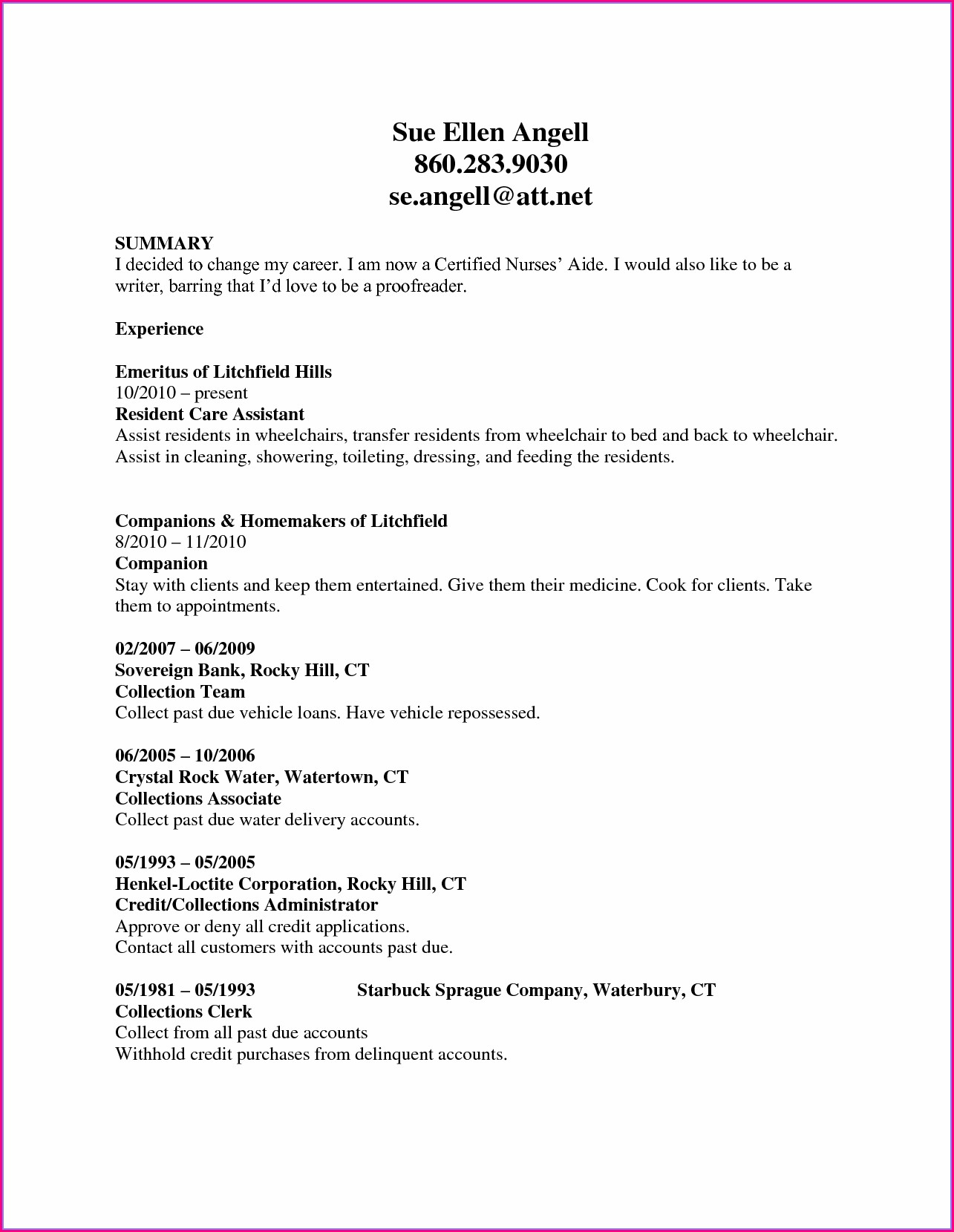 Nursing Resume Templates Free Downloads