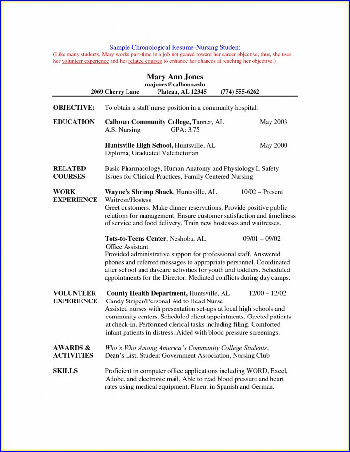 Nursing Student Resume Cover Letter Examples