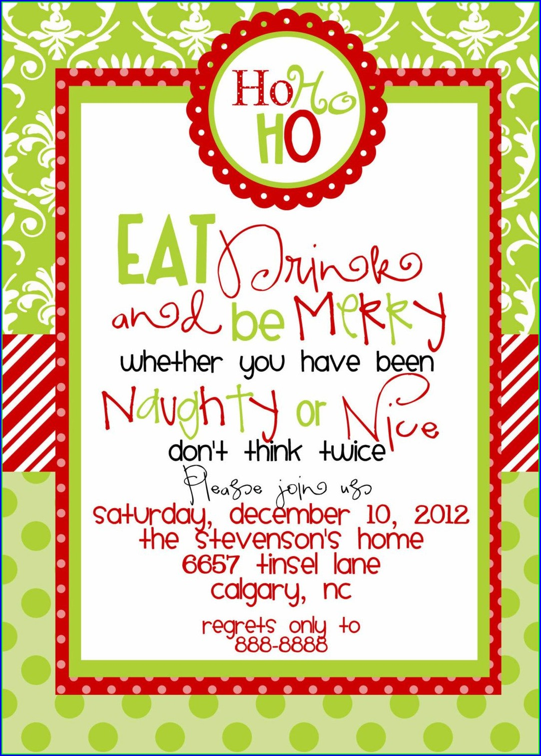 Office White Elephant Invitation Template Free