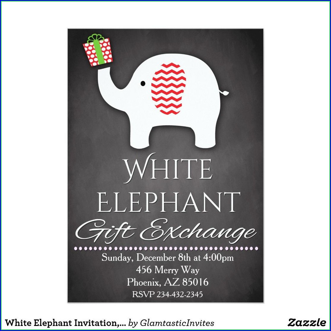Office White Elephant Invitation Template