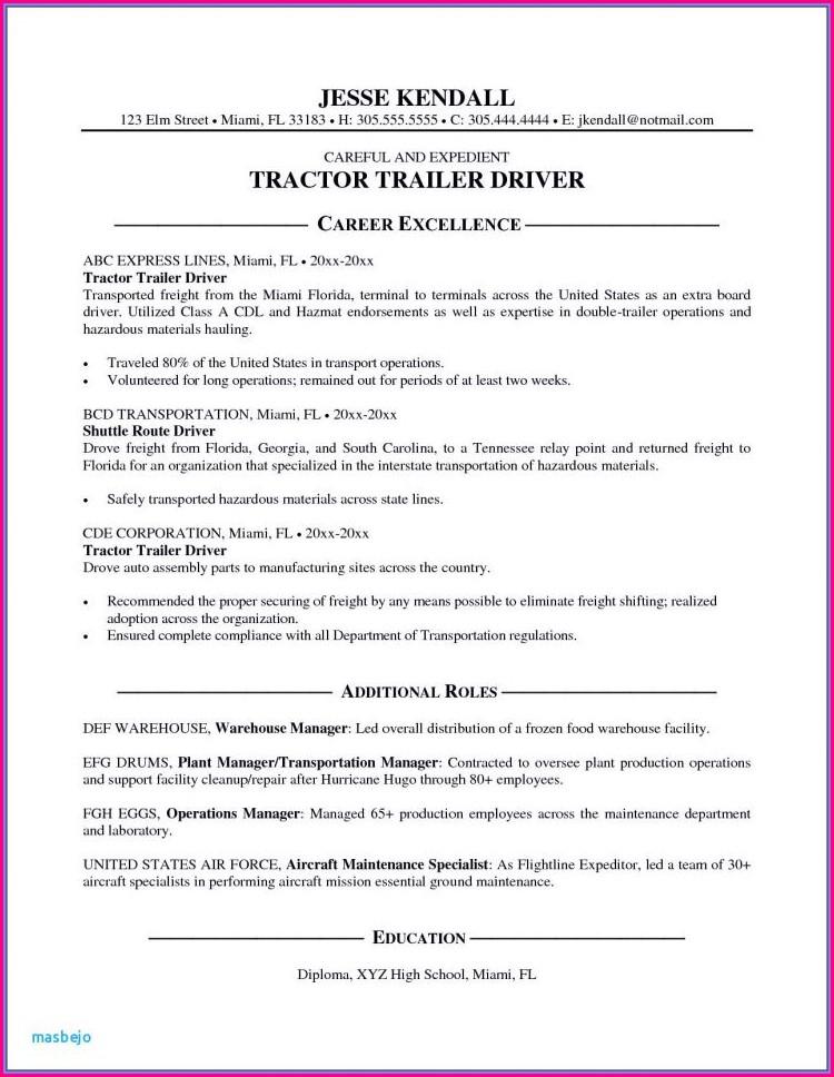Otr Truck Driver Resume Template