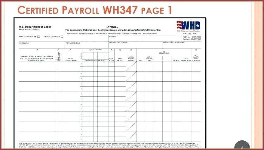 Payroll History Report Template
