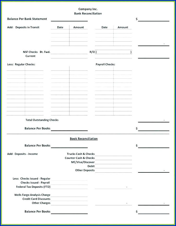 Payroll Tax Reconciliation Template Excel