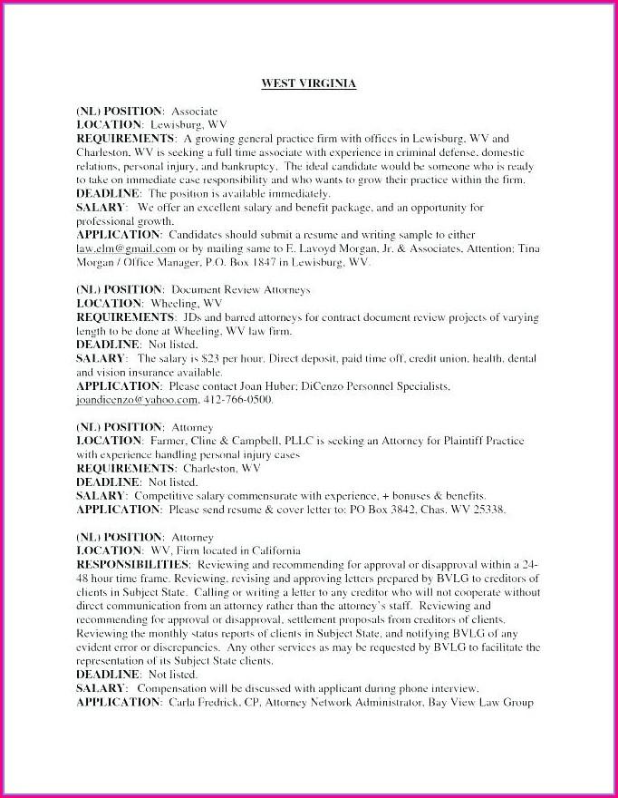 Personal Injury Law Clerk Resume