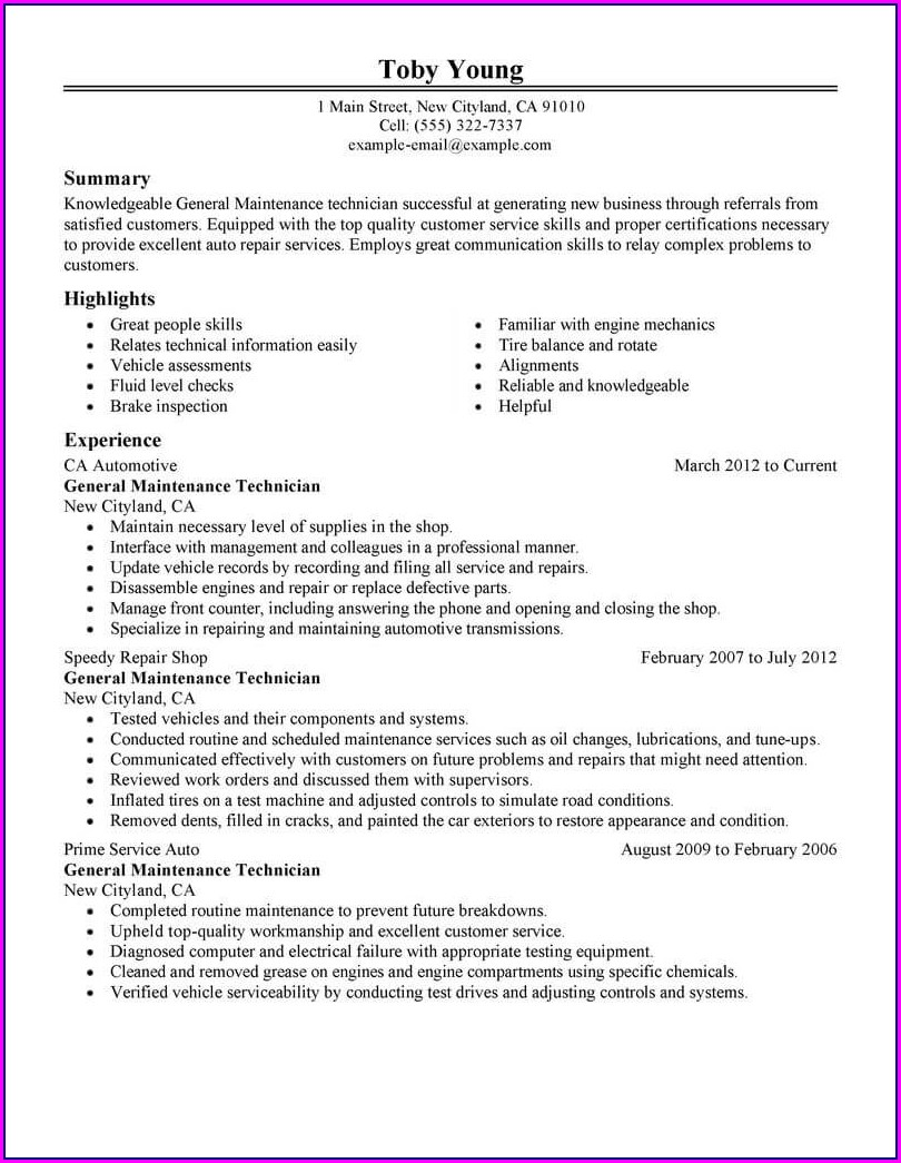 Pharmacy Technician Resume Template Free