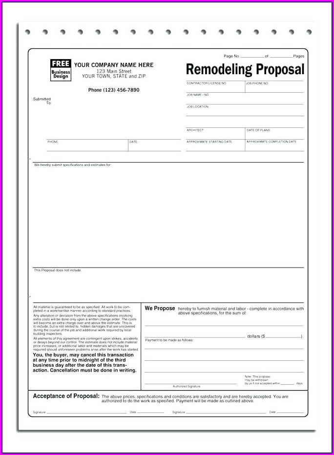 Plumber Plumbing Proposal Template