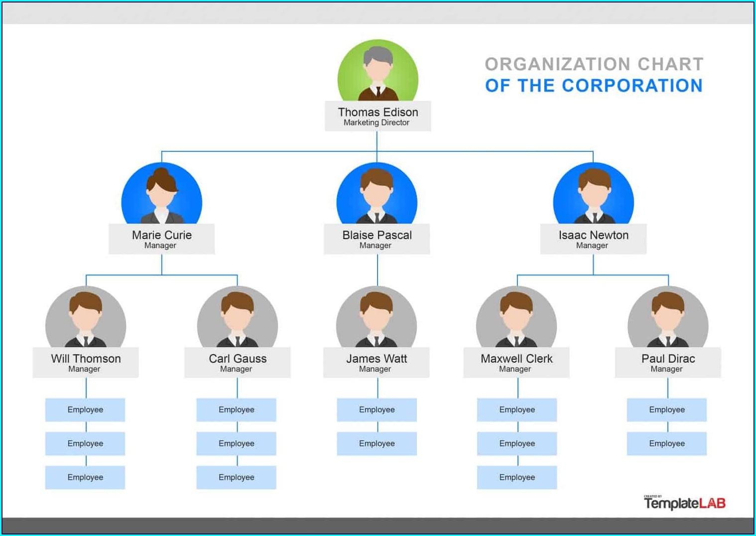 Powerpoint Organisational Chart Template