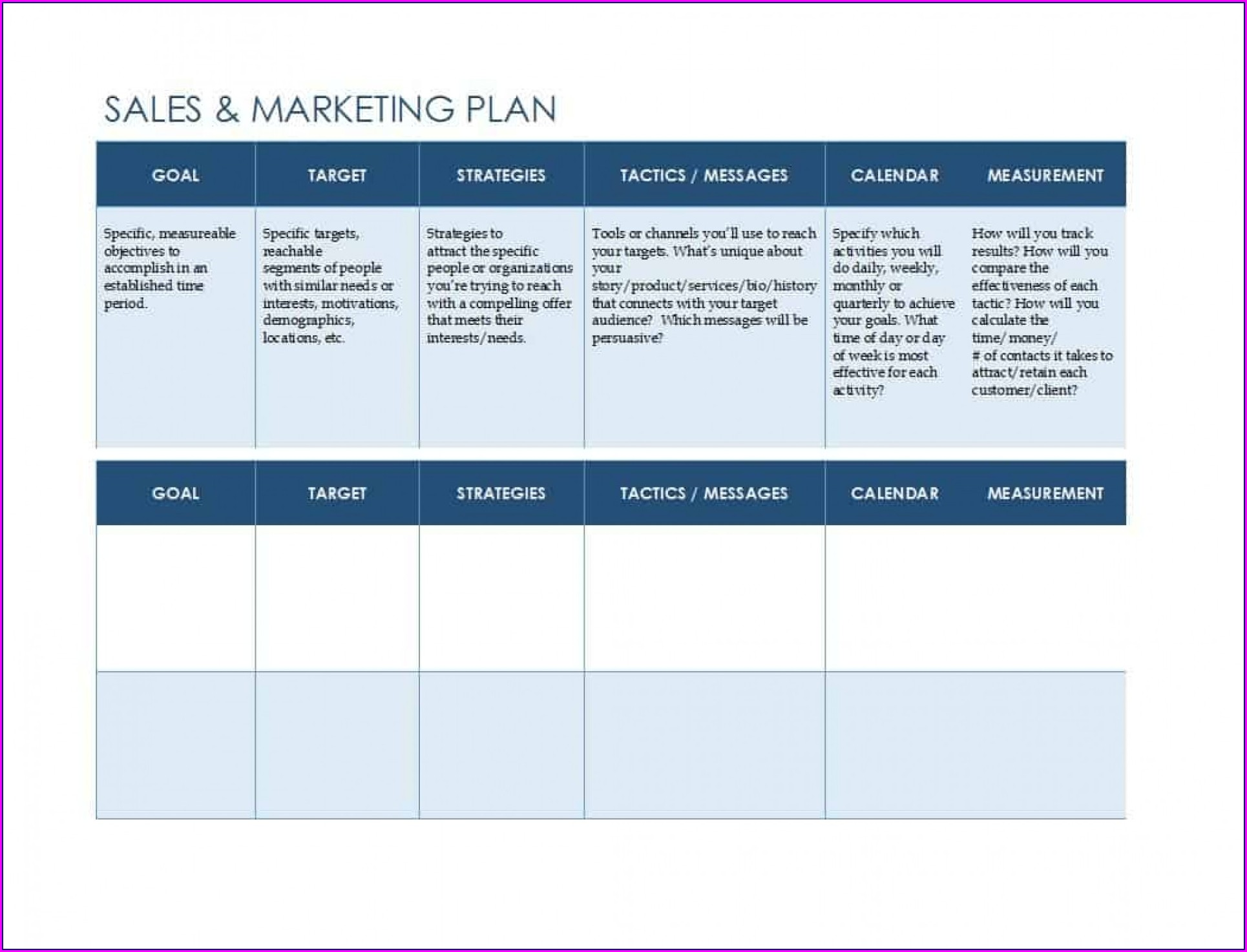 Powerpoint Sales And Marketing Plan Template