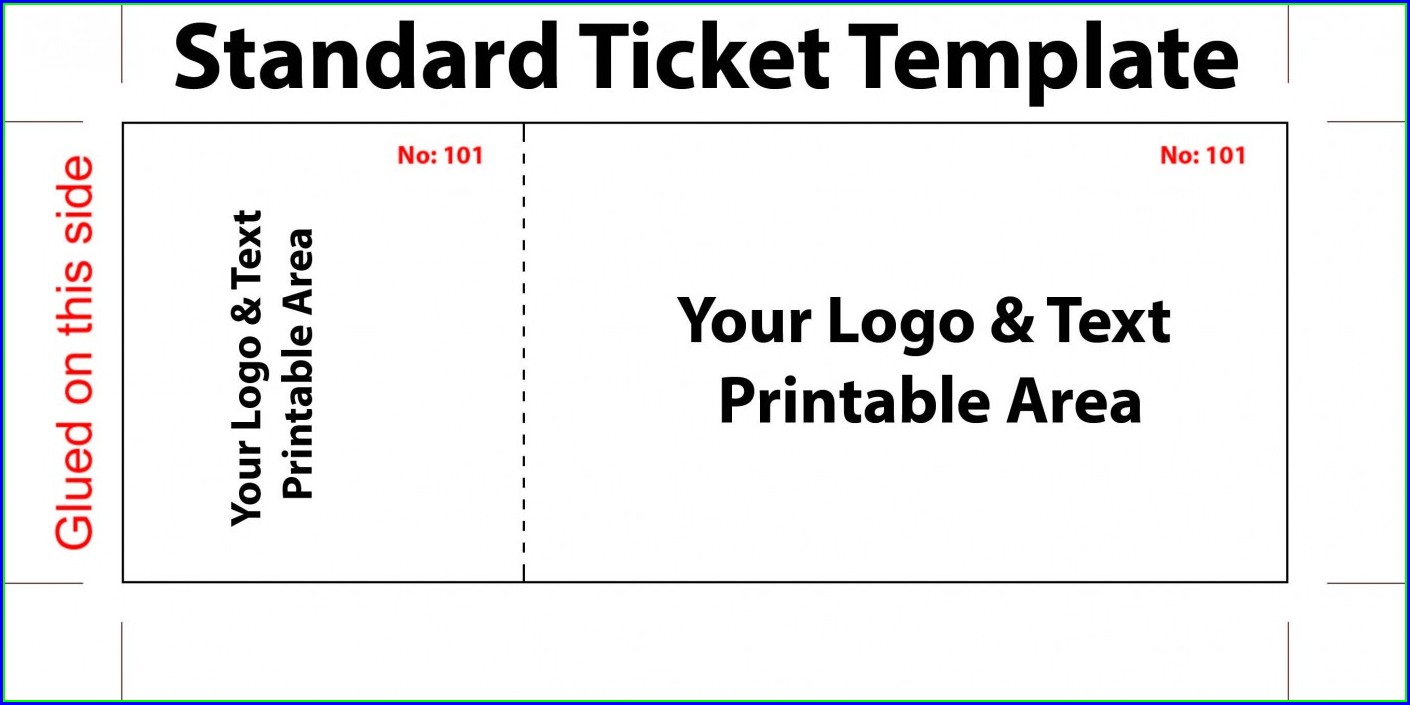 Printable Blank Concert Ticket Template