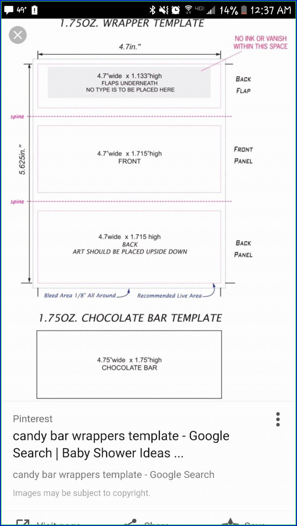 Printable Candy Bar Wrapper Template Pdf