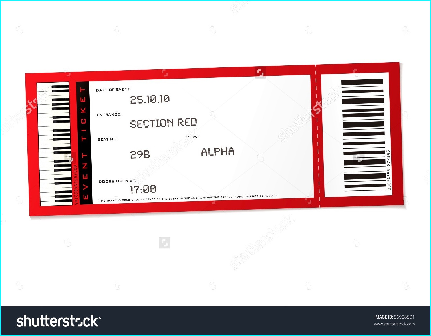 Printable Concert Ticket Editable Ticket Template Free Word