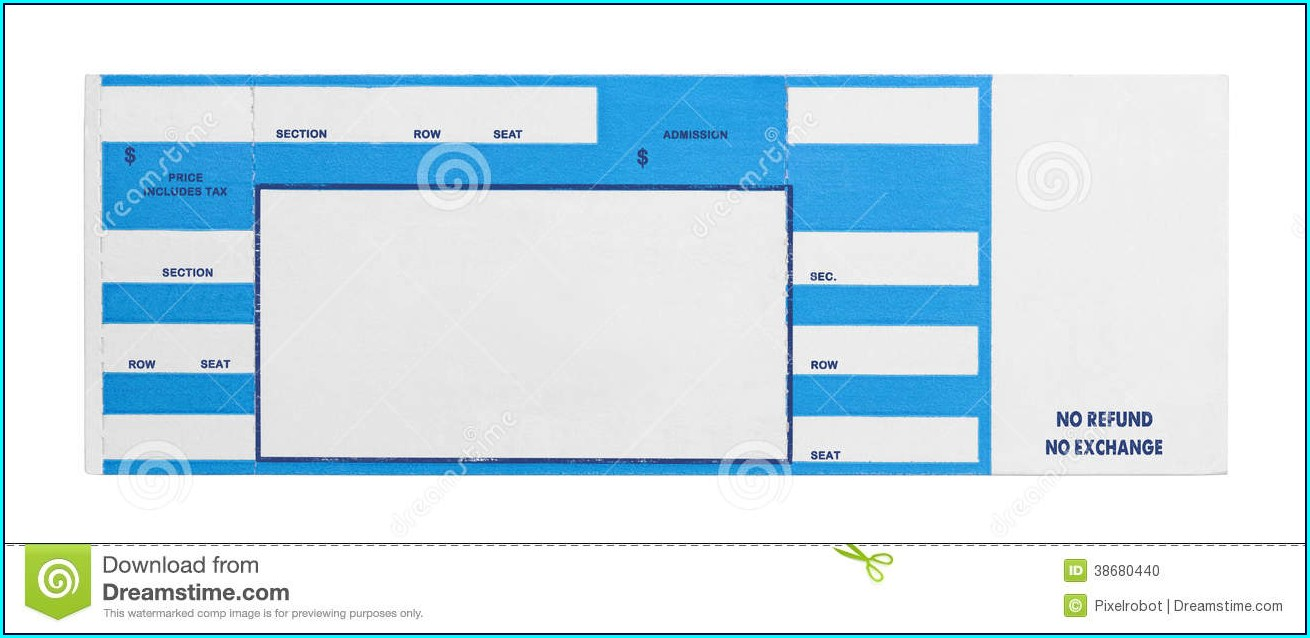 Printable Concert Ticket Free Ticket Template Word