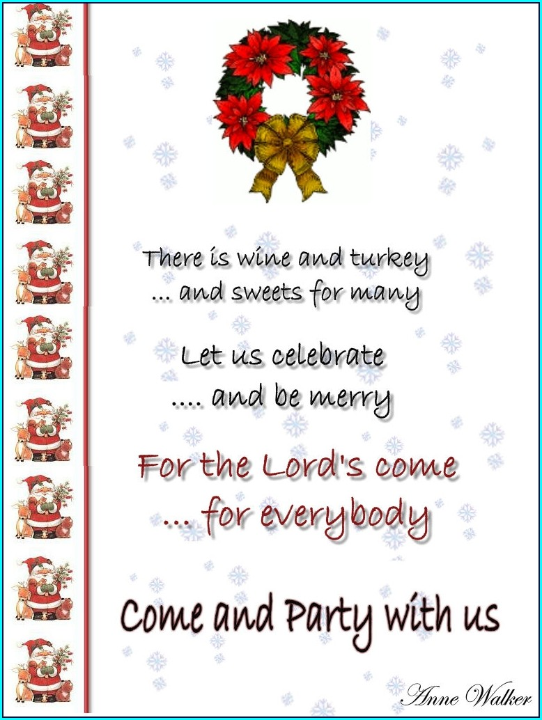 Printable Editable Free Holiday Party Invitation Templates Word