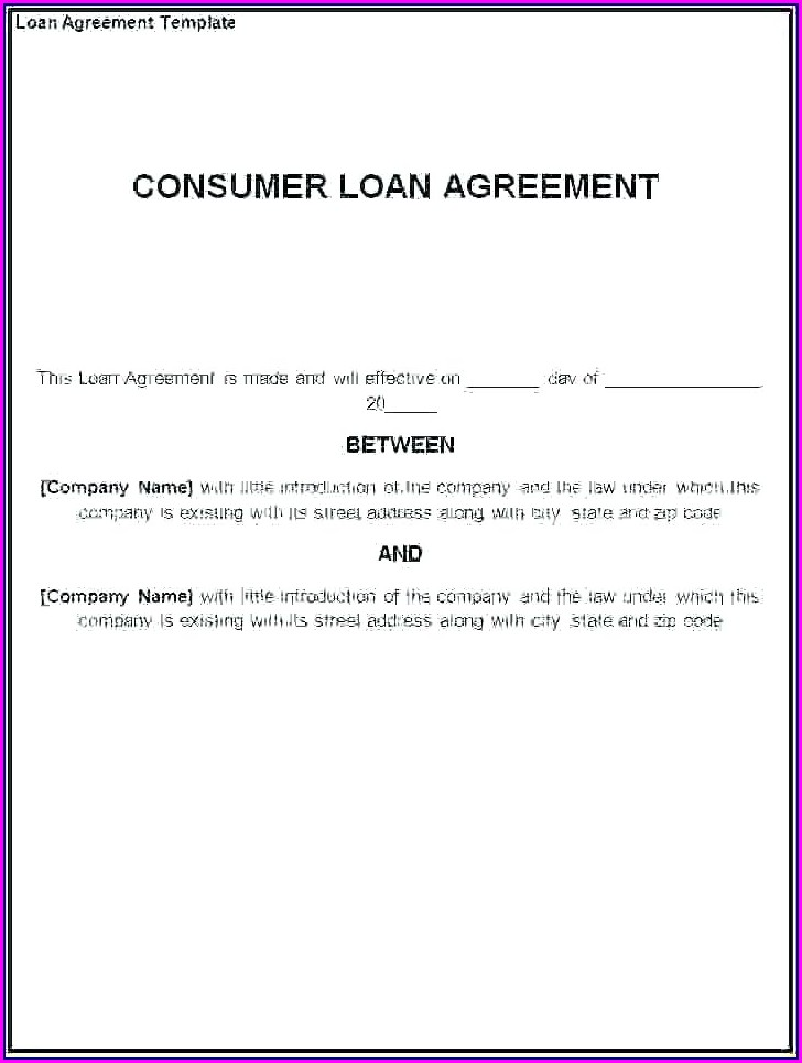 Printable Equipment Loan Agreement Template