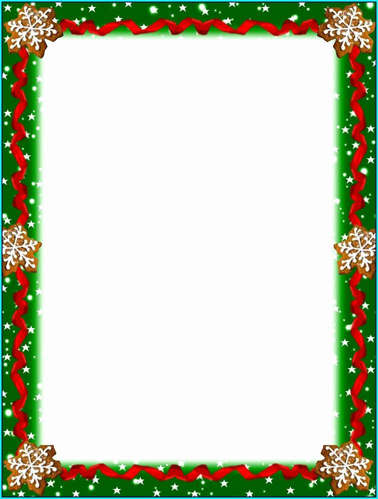 Printable Free Christmas Letterhead Templates