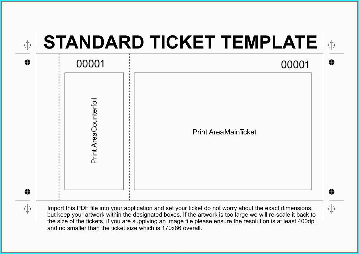 Printable Free Editable Concert Ticket Template