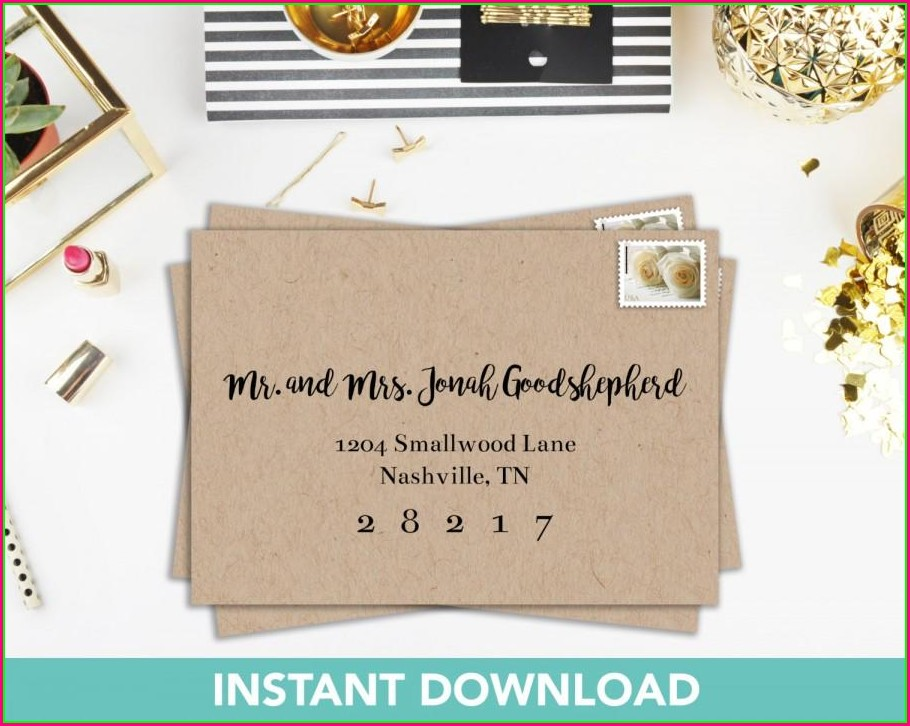 Printable Invitation Envelope Template