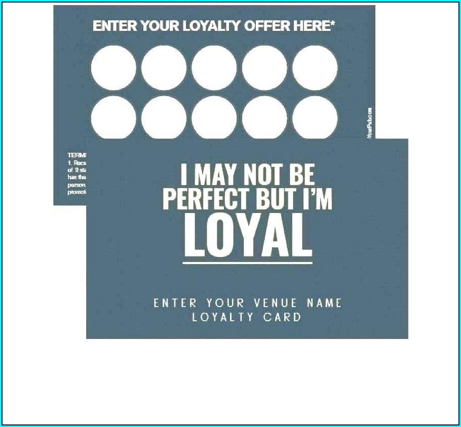 Printable Loyalty Card Template Free
