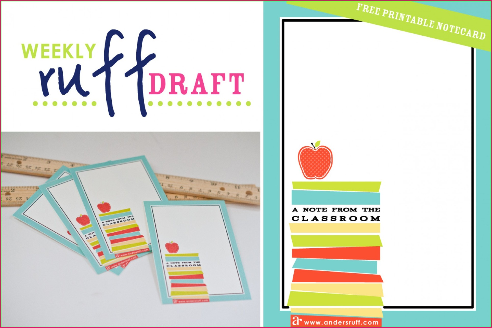 Printable Note Card Template